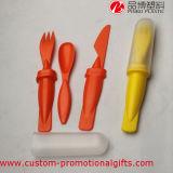 De plastic Reeks van het Diner van het Gebruik van Childr van het Mes van de Vork van de Lepel