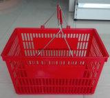 Doubles supermarché de traitement en métal/panier à provisions avec pp neufs matériels