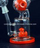 Großer Entwurfs-Amerika-Farben-Recycler-Glaswasser-Rohr mit Tasten-Diffuser (Zerstäuber)