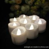 De warmere Witte LEIDENE van de Vorm van Golven Kaarsen van Tealight