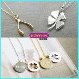 Monili fortunati della collana di fascino del nuovo oro su ordinazione di modo per le ragazze