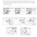 Радиоий Dasboard диктора автомобиля инструментального ящика установки автомобильного радиоприемника стерео тональнозвуковое извлекает инструментальный ящик