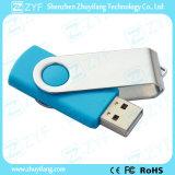밝은 파란색 금속 회전대 플라스틱 8GB 섬광 드라이브 (ZYF1820)