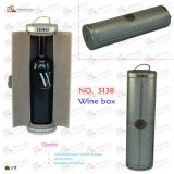 円形のNew Design 1 Bottle Leather Wine Carrier (5138R1)