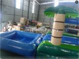 15m 무지개 야자수 팽창식 물 미끄럼 수영장