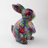 Caixa decorativa Handmade da economia dos desenhos animados do coelho da manufatura da fábrica