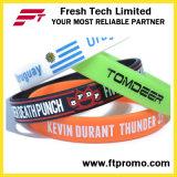 Bracelet personnalisé de silicones de sports de cadeaux de promotion