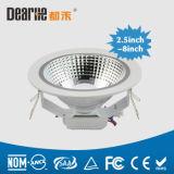 5 ÉPI LED Downlight 12W de la dimension 140mm de coupe de pouce