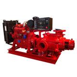 Bomba de agua diesel de Figting del fuego de alta presión gradual