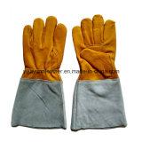 Кожаный перчатки заварки TIG/перчатки заварки аргона