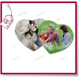 3 '' Sublimation Heart Shape Porcelain Ornament para Christmas Gift