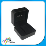 Черная кожаный бумага покрыла коробку роскошного одиночного пластичного вахты бутика коробки вахты дешевого упаковывая