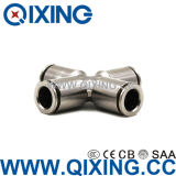 Cee Copper / Stainless Steel Metal Cross Joint Pipe Fitting