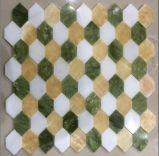 テレビの壁のタイル(FYSSC040)のための2016最新の自然な六角形の石造りのモザイク