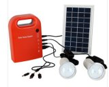 Солнечный конвертер электропитания электрической системы 25W портативный резервный с панелью солнечных батарей и СИД G02
