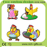 Liberare il ricordo di gomma personalizzato dei regali di promozione del gallo del magnete del frigorifero di Sofft (RC-R07)