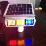 Lados dobro Solar LED Traffic Signal luz de advertência