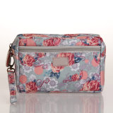 (600) Bolso floral de los bolsos del PVC de la lona para la señora