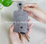 Keyring de modelado durable de Keychain del fieltro de la aduana para la decoración