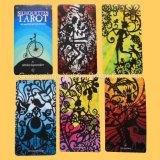 Карточки игры играя карточек гильзовой бумага Tarot полного цвета серые