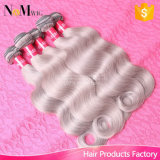 회색 머리 직물 7A 브라질 Remy 머리 바디 파 100g/PCS Brazilian Hair Extensions Grey Human Hair Weaving Brand Hair Company