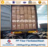Anticrack를 위한 Microfiber PP Fibrillated Fiber