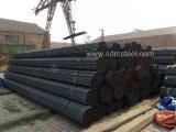 Tubo de acero redondo del carbón negro