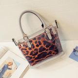 Leopardpatten-Schulter-Beutel-transparente Einkaufen-Beutel-Frautote-Handtasche Sy7652