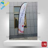 Kundenspezifisches Drucken-Doppelt-seitliche bekanntmachende Markierungsfahne/Fliegen-Fahne/Strand-Markierungsfahne