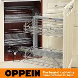 Oppein 유럽 L 모양 높은 광택 PVC 목제 부엌 찬장 (OP15-052)
