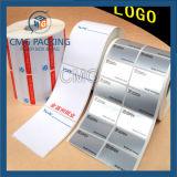 Étiquette pourprée de collant de papier d'imprimerie (CMG-STR-007)