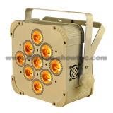 Batería LED DMX sin hilos 9X8w RGBW 4 in-1