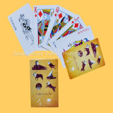Tarjetas que juegan publicitarias de encargo coloridas del papel