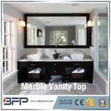 Marmo bianco della venatura del legno Polished per la parte superiore di vanità della stanza da bagno