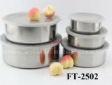 Stainless Steel 5PCS Round Keep Fresh Box Set (FT-2502)
