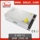 Smun S-600-12 600W 12VDC 50A Sortie Simple Sortie Alimentation