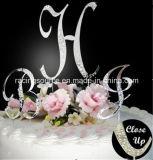 수정같은 프랑스 정면 편지 a에서 Z 짜맞춘 글자 부분적인 Diamantee 결혼 케이크 상품