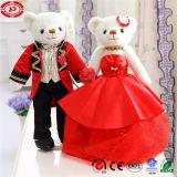 Urso agradável da peluche do brinquedo do luxuoso dos pares do urso da alta qualidade do casamento