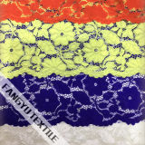 Grande tessuto blu del merletto del fiore per il tessuto dell'indumento