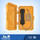 IP67 impermeabilizan el teléfono con la puerta, teléfono industrial del intercomunicador, teléfono ferroviario de VoIP