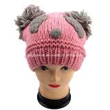 Beanie шлема панды Knit руки животный с ушами POM POM
