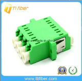 Adaptador de fibra óptica Quad LC / APC monomodo
