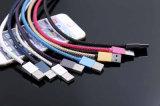 베스트셀러 2.4A는 비용을 부과 PU 가죽 땋는 USB 케이블 단식한다