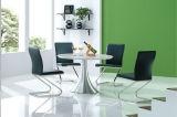 Tabella pranzante di marmo con la mobilia del salone della presidenza dell'acciaio inossidabile