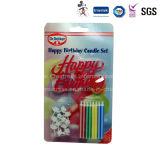 Velas espirais Flameless Eco-Friendly personalizadas do partido do bolo de aniversário da matéria- prima