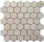 Crema Marfil Marmorhexagon-Mosaik-Fliese, weiße Hexagon-Fliese