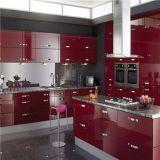 Gabinete de cozinha moderno da laca do lustro elevado