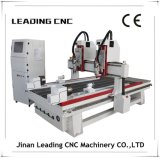 router Machine do CNC de 3D Multi Heads Wood com 2 Rotaries