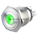 bouton poussoir en métal d'acier inoxydable de 19mm avec le terminal de vis 4