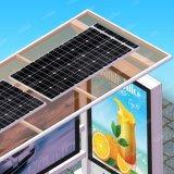 Aubette de publicité solaire de route avec la présidence